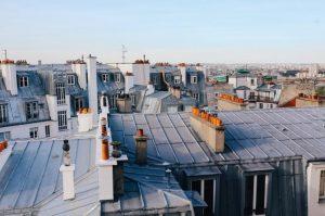 Toit immeuble parisien