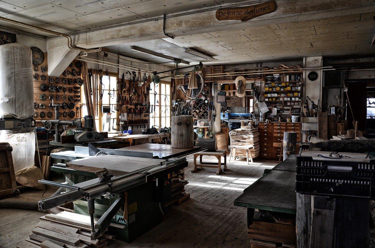 outils artisan dans un atelier